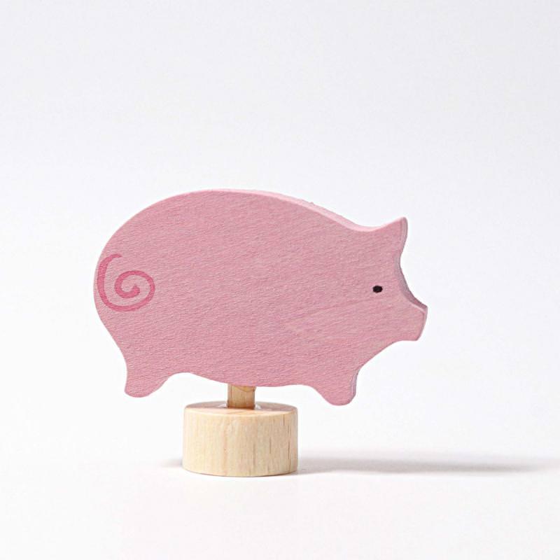 Figurenstecker Schwein von Grimms