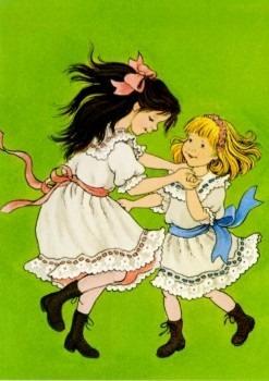 Postkarte Madita und Lisbeth