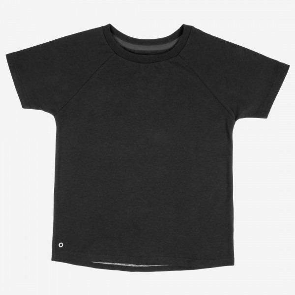 T-Shirt Baumwolle cosmic black