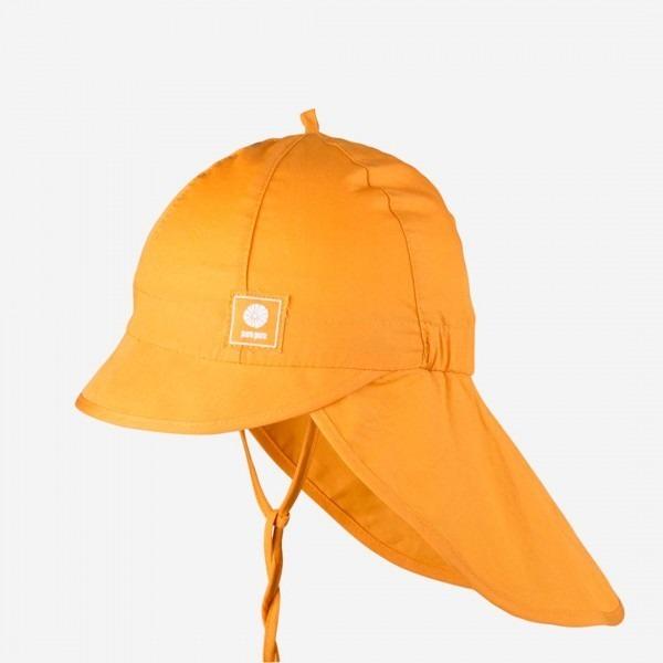 Sommermütze mit Nackenschutz apricot