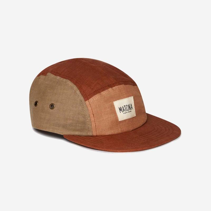 Cap von Matona aus Bio-Baumwolle in clay/tan/sienna