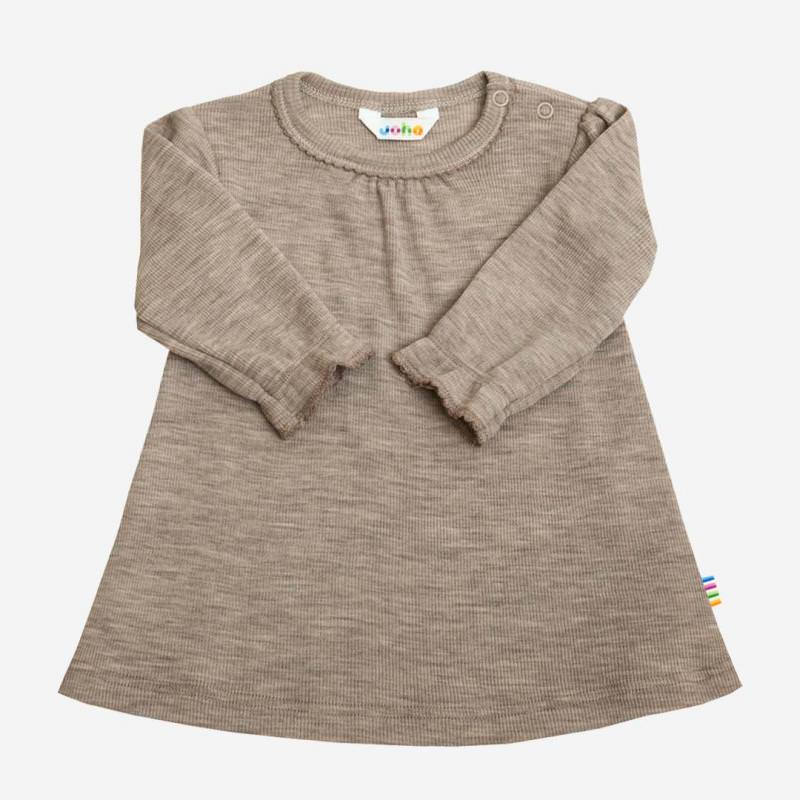 Kleid Wolle/Seide beige melange