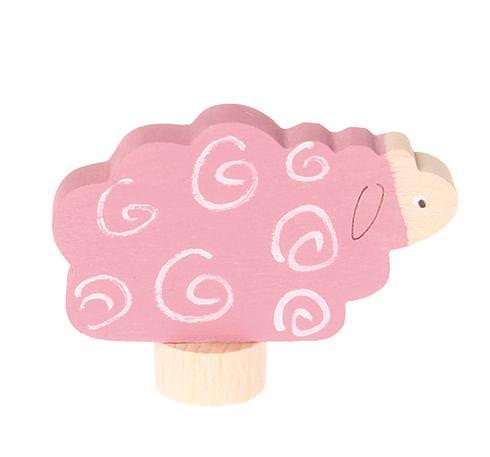 Figurenstecker liegendes Schaf