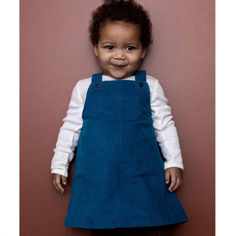 Baby Kord Kleid Spencer von Serendipity aus Bio-Baumwolle in baltic