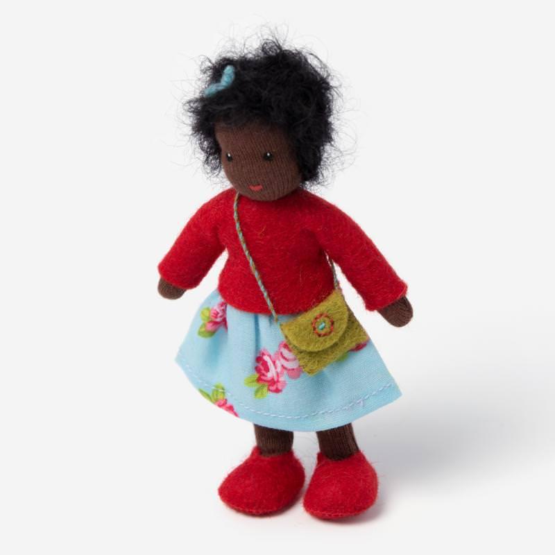 Puppenstuben Mädchen schwarzes Haar
