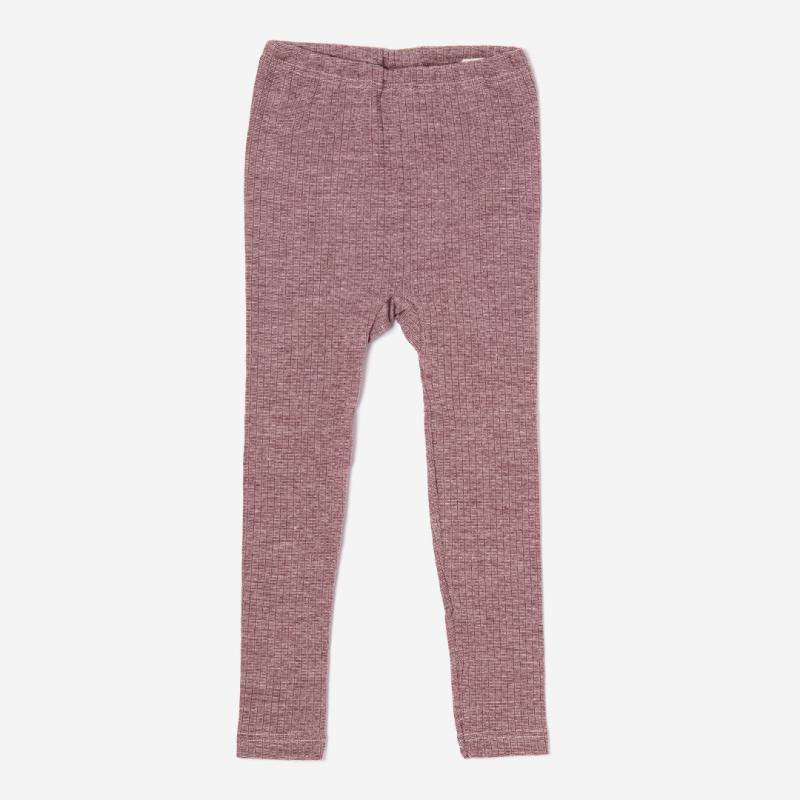 Leggings Baumwolle/Wolle/Seide von Cosilana in weinrot meliert
