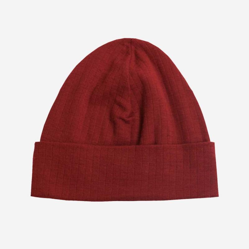 Mütze Merinowolle rot