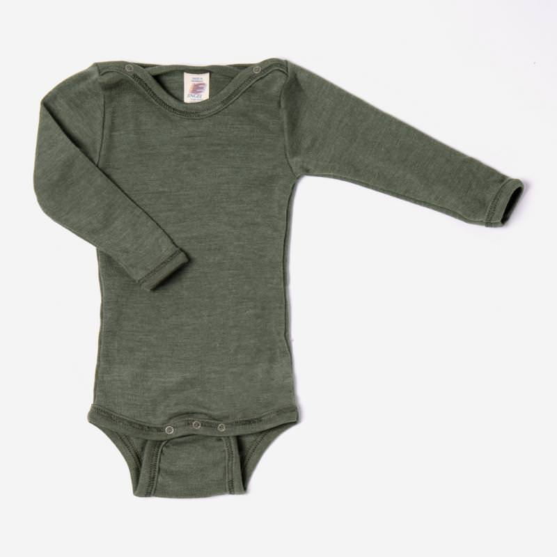 Baby Body Wolle/Seide olive