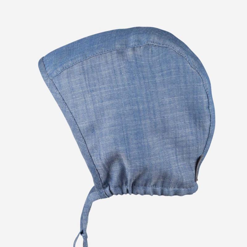 Sommer Häubchen jeansblau