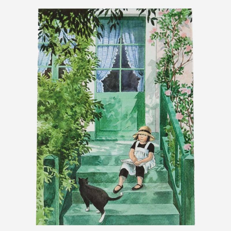 Postkarte Linnea malt