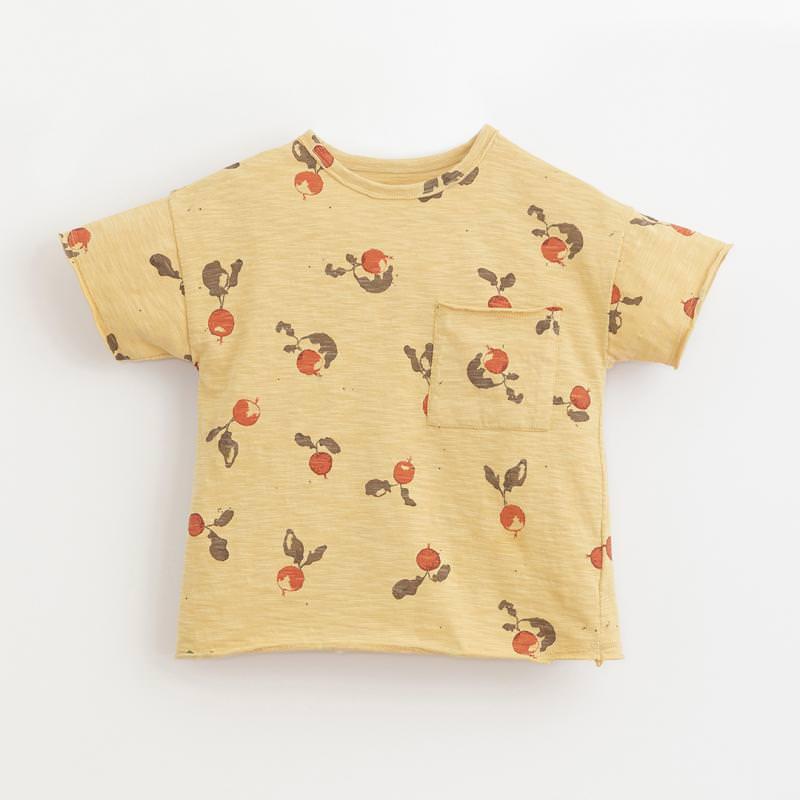 T-Shirt mit Radieschen straw gelb