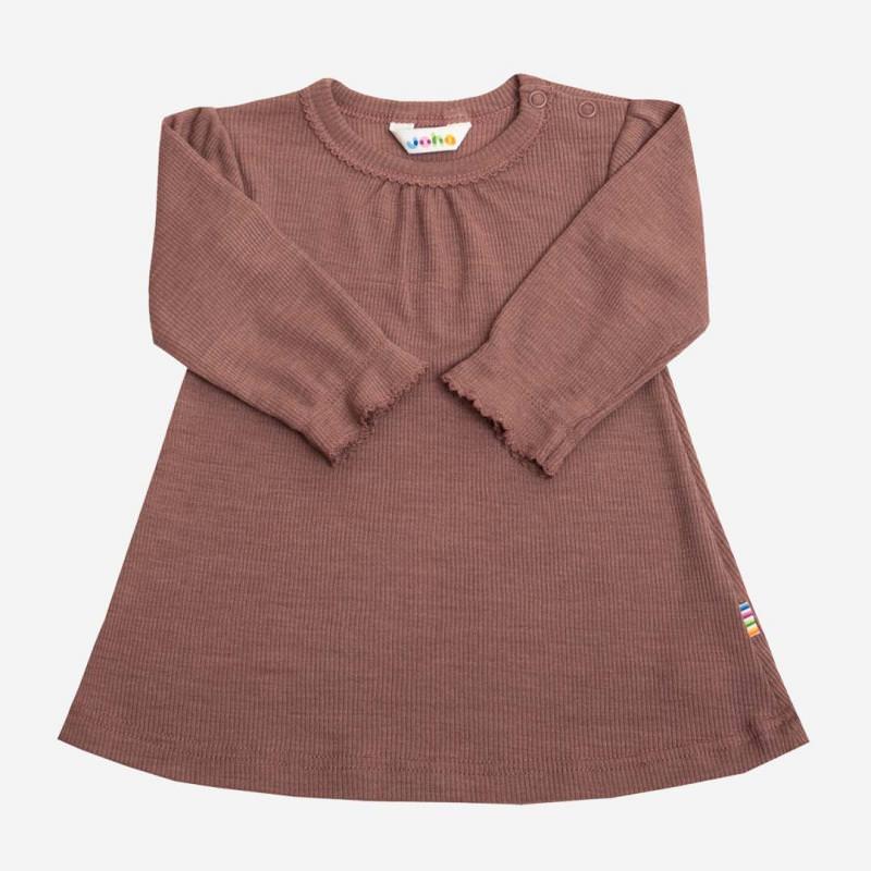Kleid Wolle/Seide rosewood
