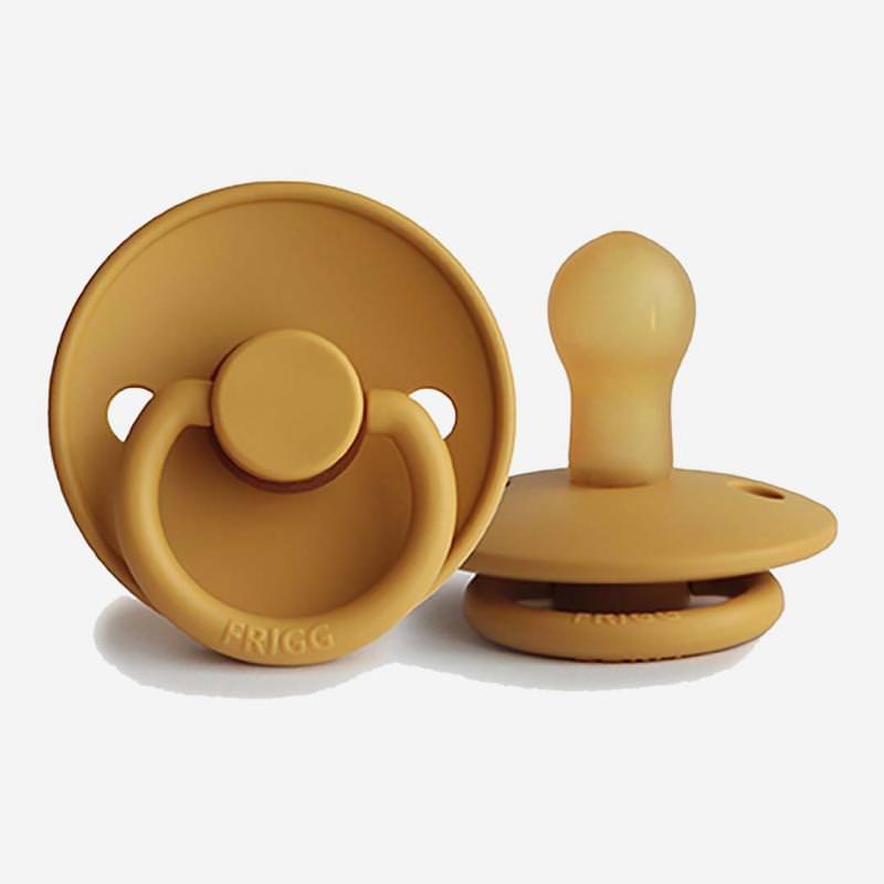 Baby Schnuller Frigg Classic aus Latex in honey gold