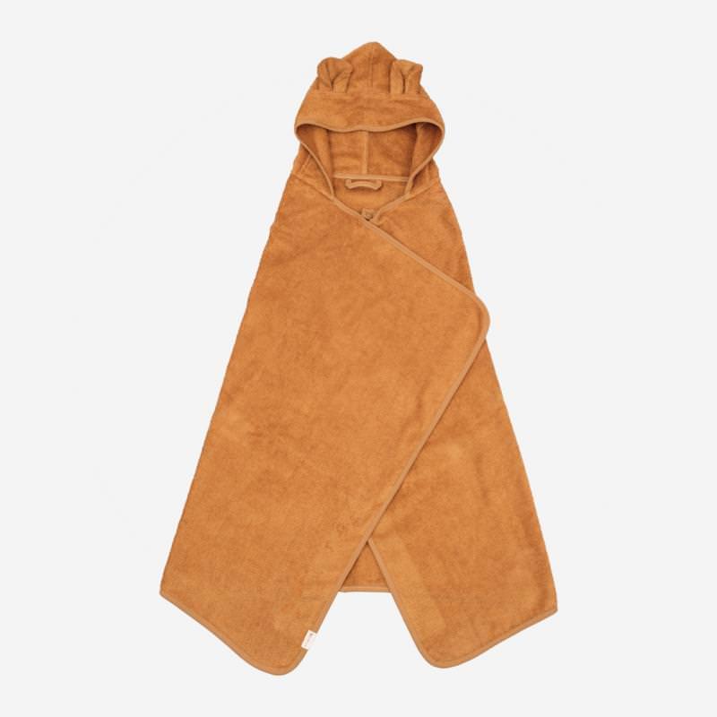 Kapuzen Junior Handtuch Bär ochre