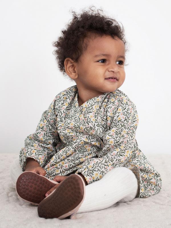 Baby Wrap Dress sweet pea