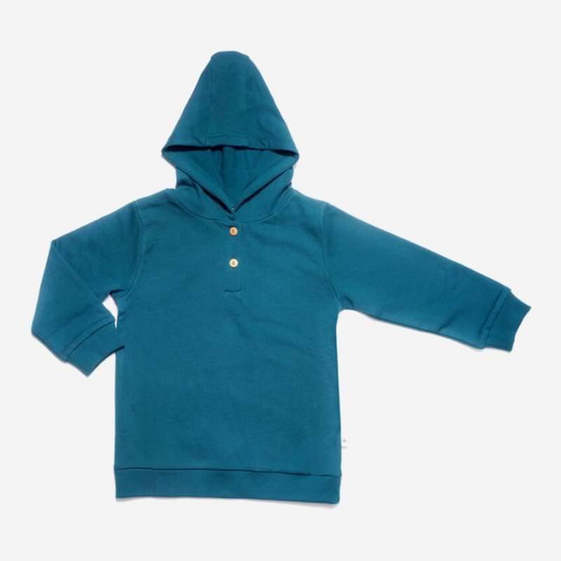 leela cotton kapuzen sweat shirt donau blau türkis petrol