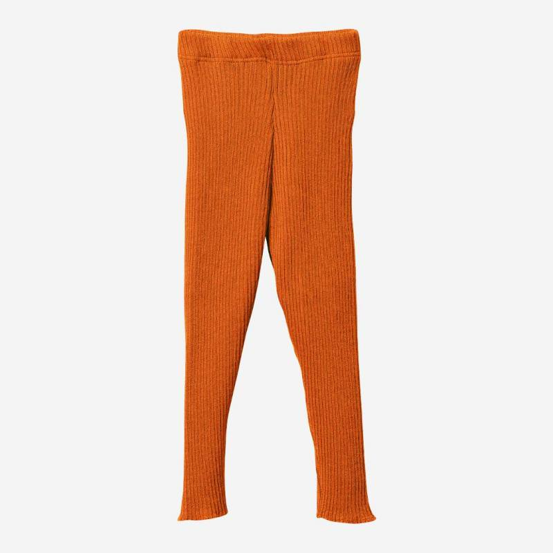 Strick Leggings von Disana aus Wolle in orange