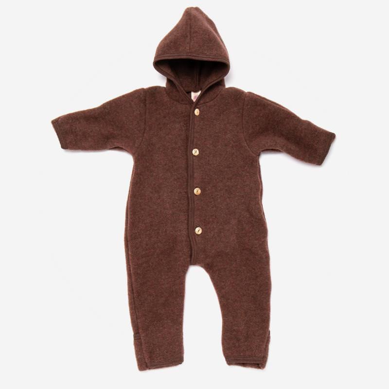 Baby Overall von Engel aus Wollfleece in zimt melange 1