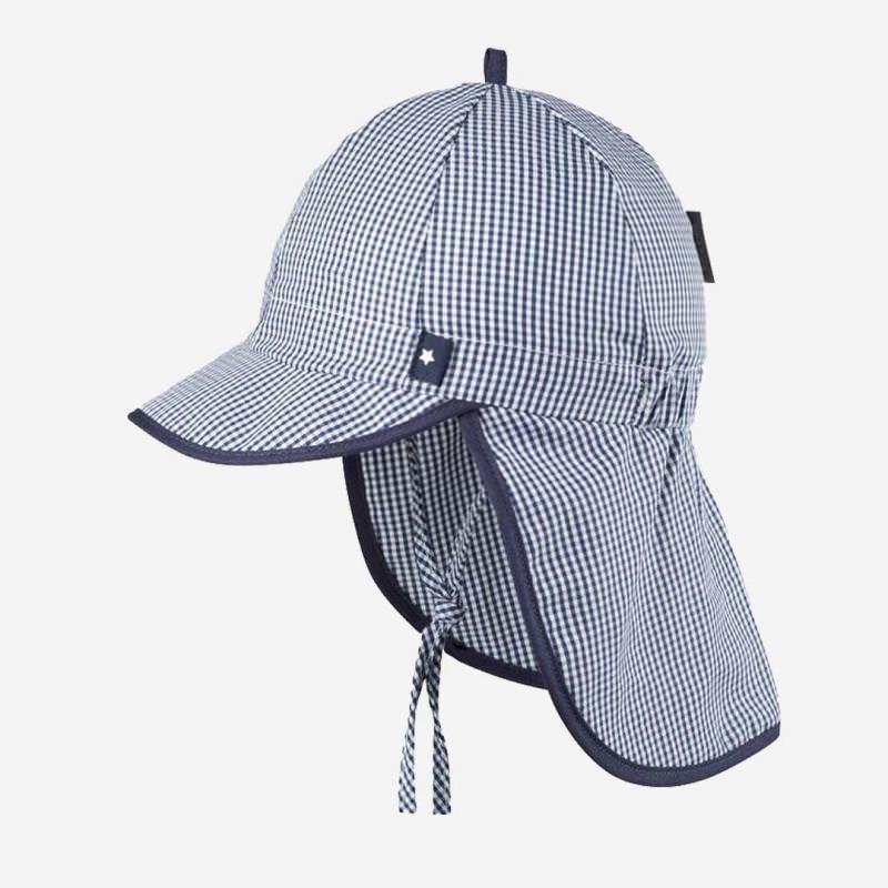Schirmmütze mit Nackenschutz blau