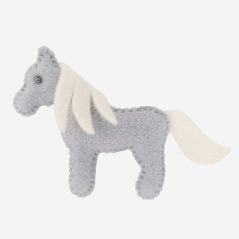 Kleine Filz Freunde graues Pferd