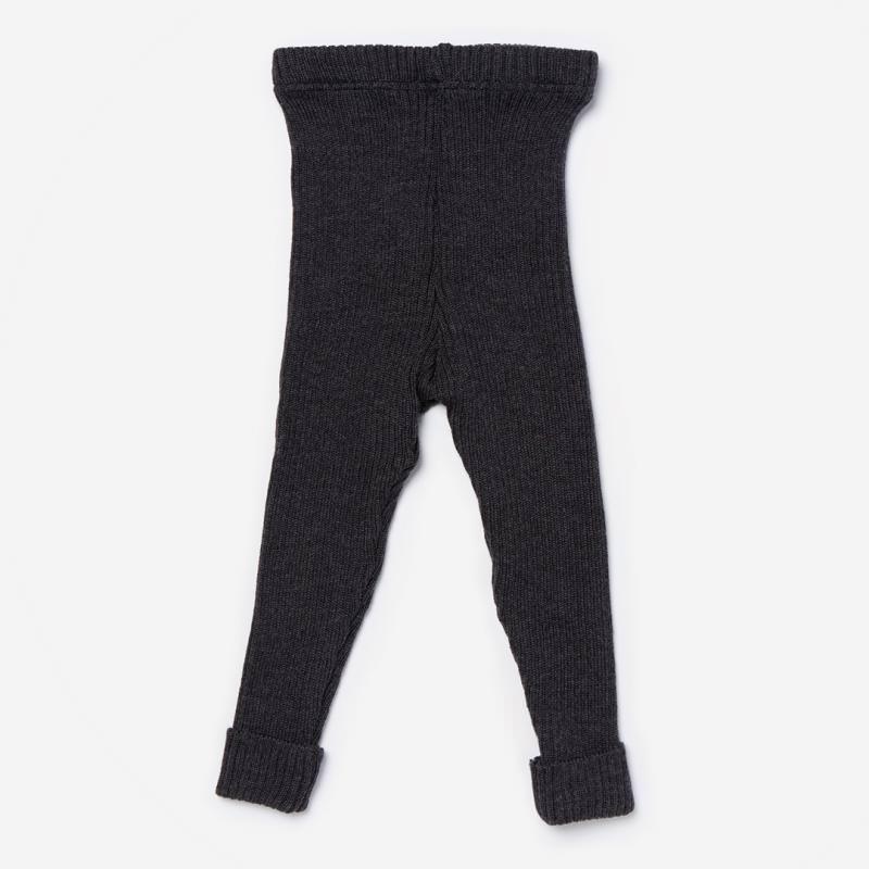Kinder Wollleggings von Maximo aus Wolle in carbon meliert