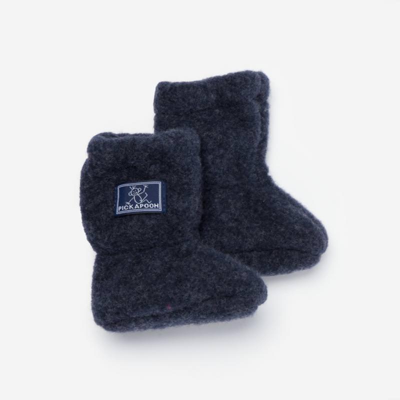Baby-Stiefel Wollfleece marine