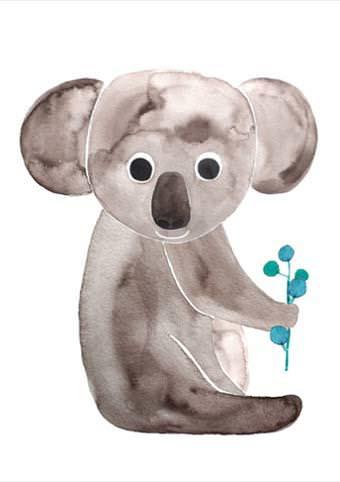 Postkarte Koala