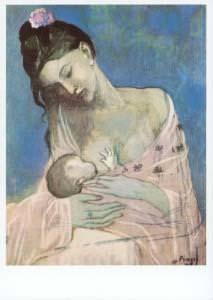 Postkarte Mutter und Kind (Picasso)
