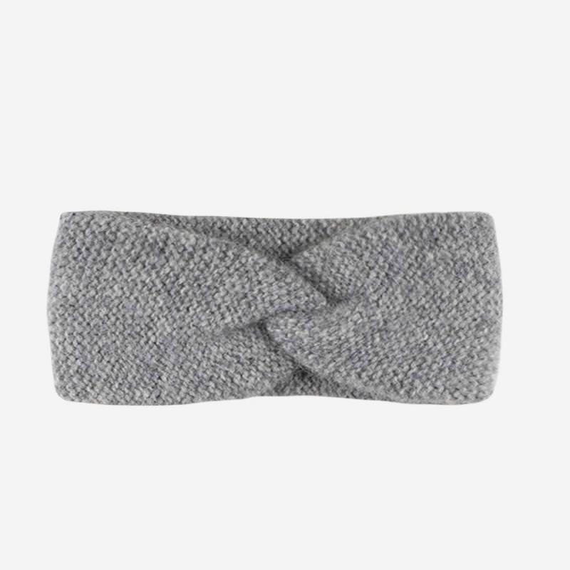 Stirnband Babyalpaka grau melange