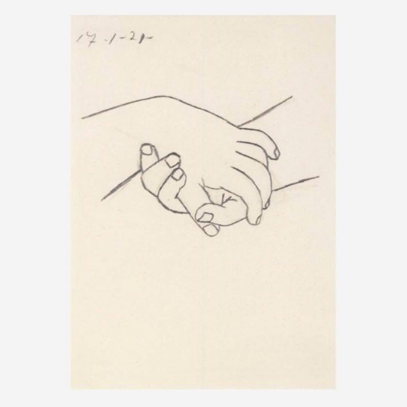 Verschränkte Hände (P. Picasso)