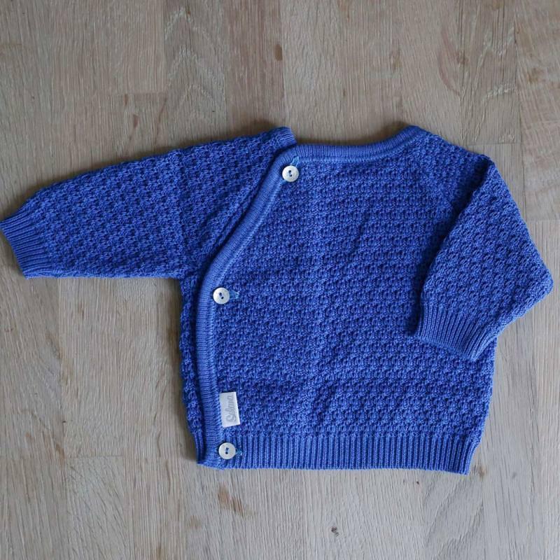 Schlüttli Baumwolle Musterstrick blue