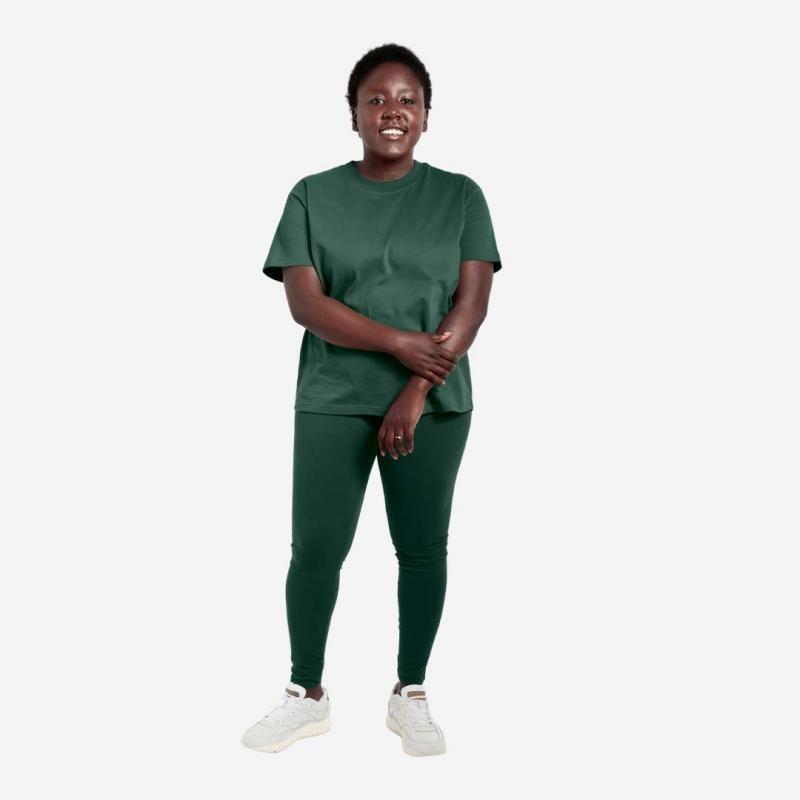 Women All day Leggings von Orbasics aus Bio-Baumwolle in forest green