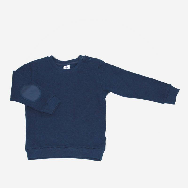 Piqué-Sweater indigo