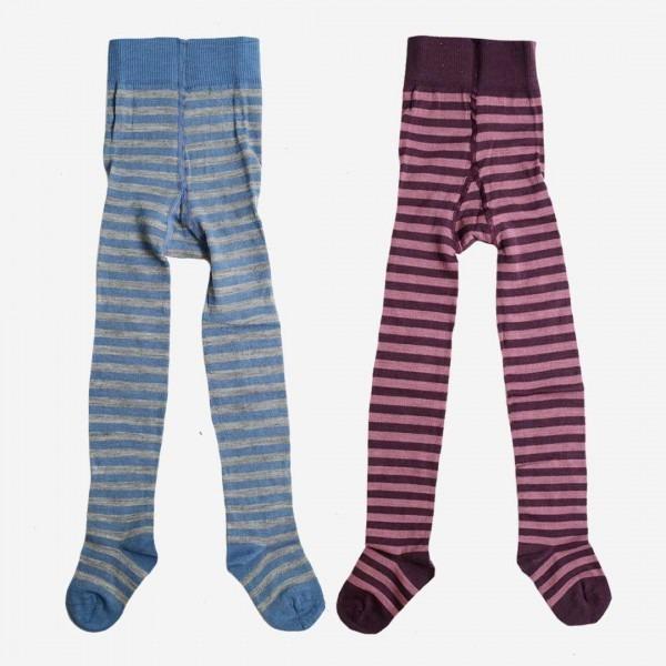 Kinderstrumpfhose Wolle/Baumwolle Ringel