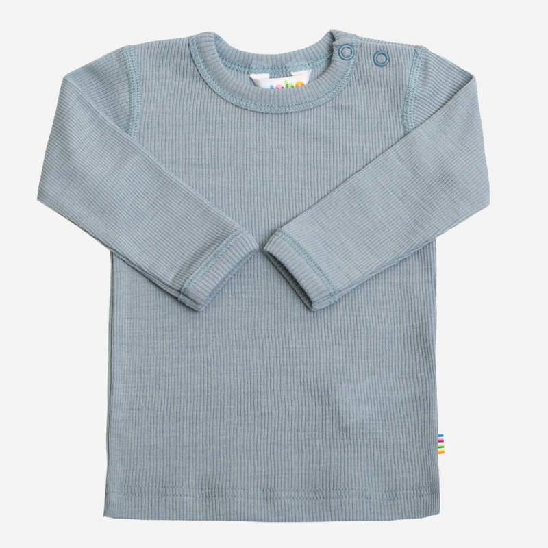 Shirt Wolle/Seide denimblau
