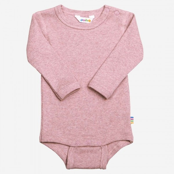 Body langarm Baumwolle rosa melange