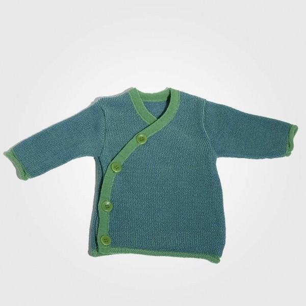 Melange-Jacke Grün/Blau