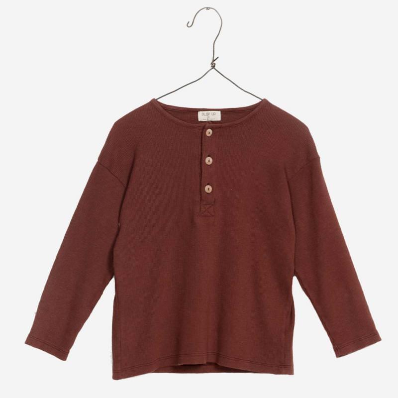 Jersey Shirt mit Knöpfen