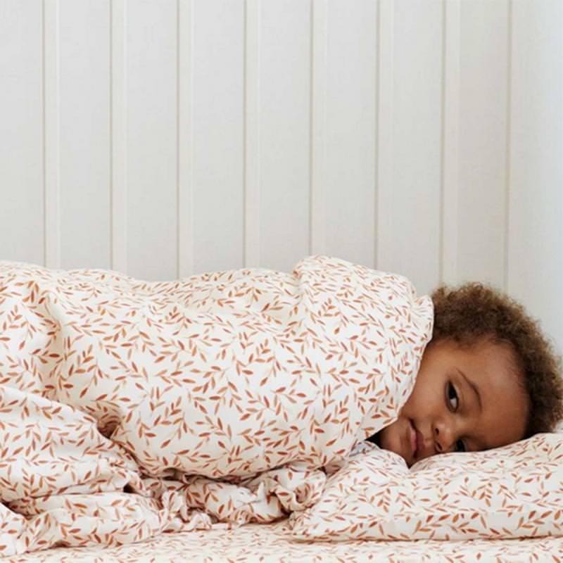 Kinder Bettwäsche Bio-Baumwolle caramel leaves