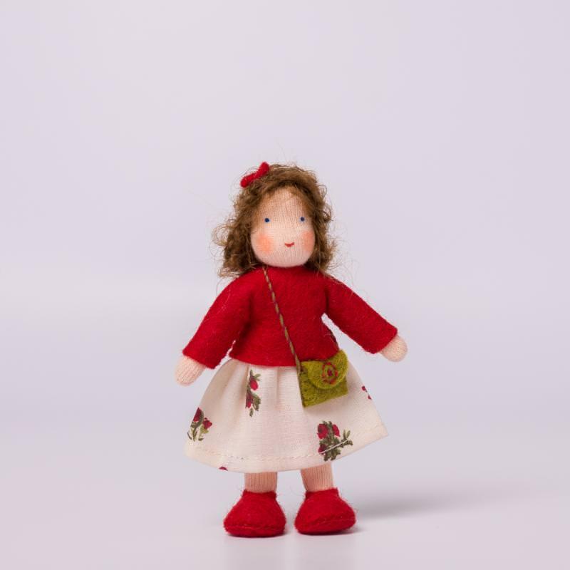 Puppenstuben Mädchen braunes Haar