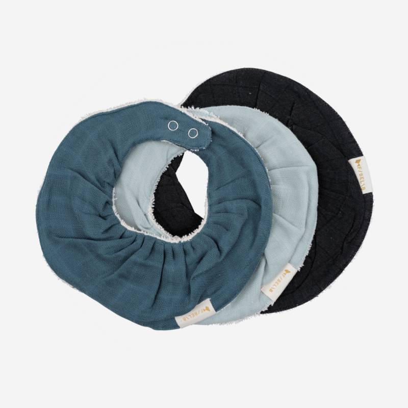 Ruffle Bib Lätzchen 3-Pack von Fabelab aus Bio Baumwolle in moon beam
