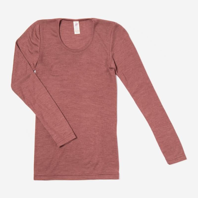 Damen Shirt Wolle/Seide kupfer