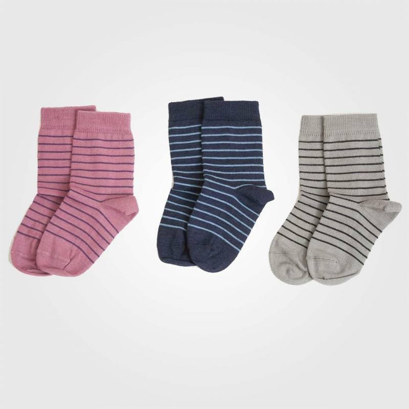 Socken Ringel Wolle/Baumwolle