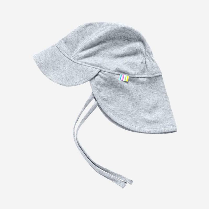 Sommermütze Nackenschutz grau melange