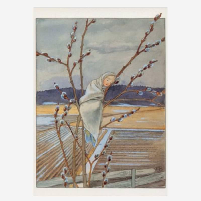 Postkarte Weidekind von Elsa Beskow