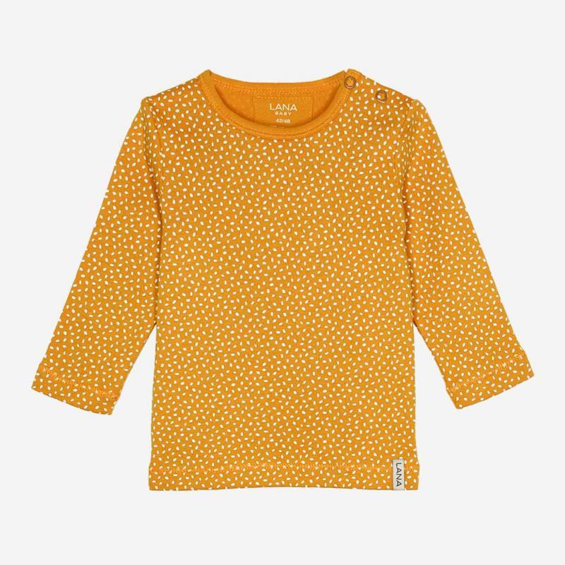 Baby Shirt Jule von Lana aus Bio-Baumwolle sonnengelb gepunktet