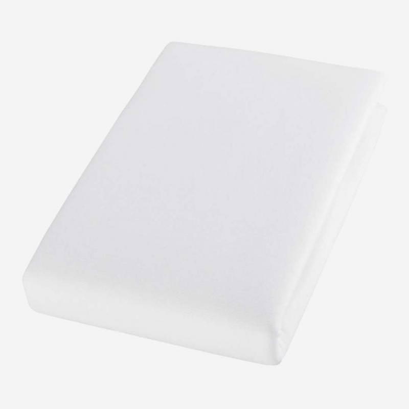 Jersey Spannbettlaken aus Bio-Baumwolle von Cotonea in weiß