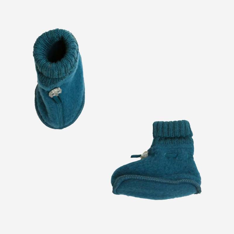 Schühchen Wollfleece petrolblau
