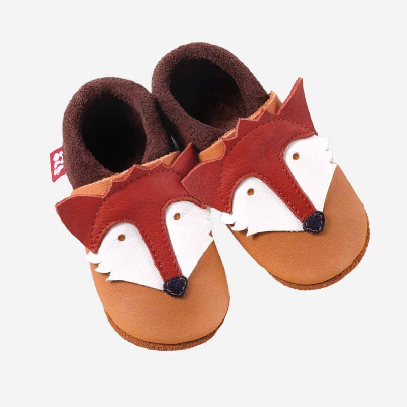 Baby Leder Schühchen Fuchs