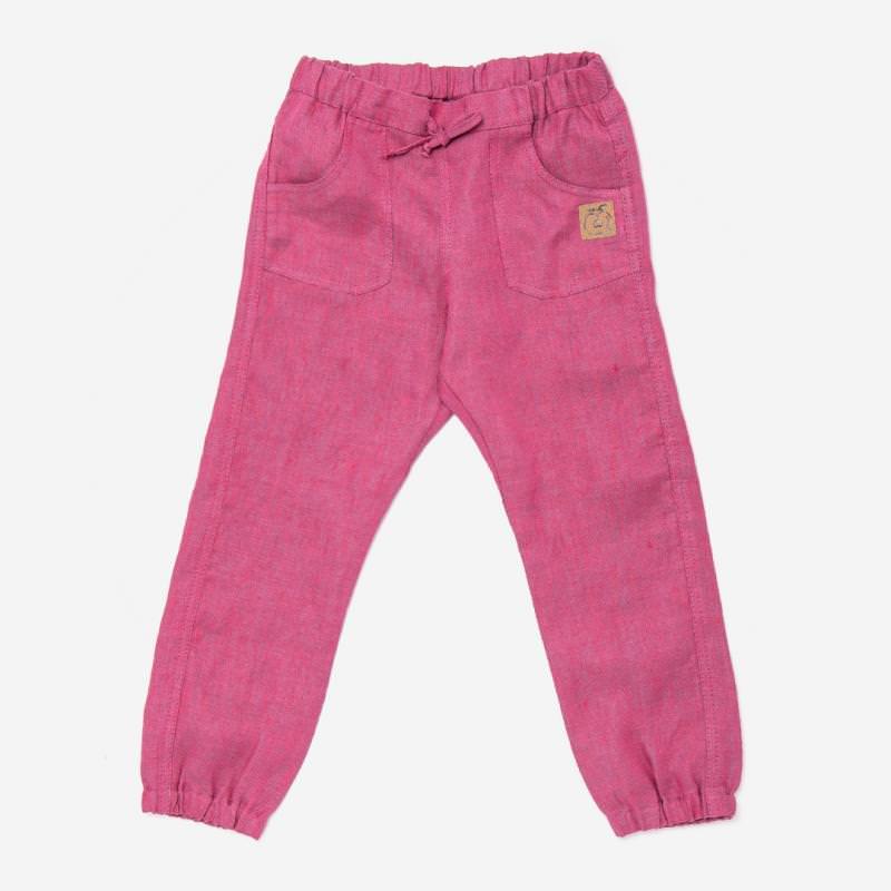 Kinder Hose aus Leinen von Pure Pure in lila meliert